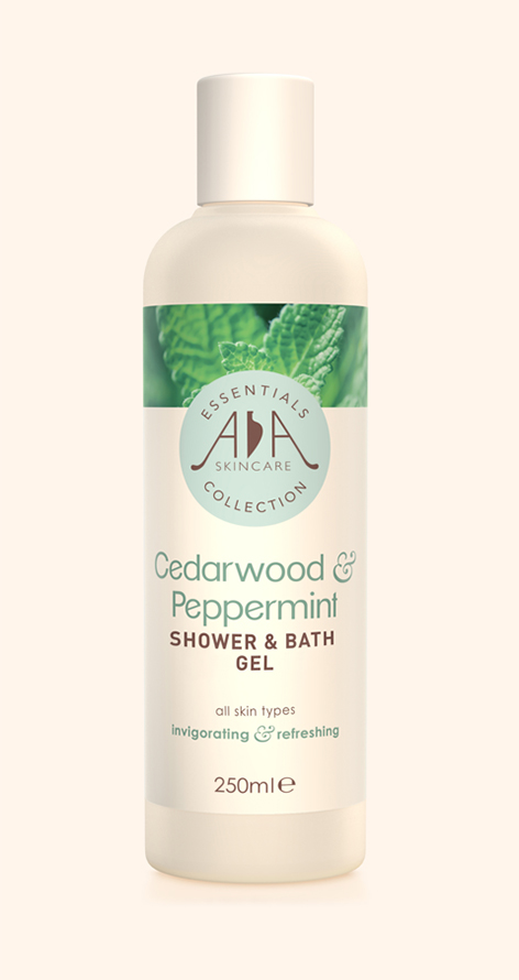 Cedarwood & Peppermint Shower & Bath Gel 250ml - AA Skincare