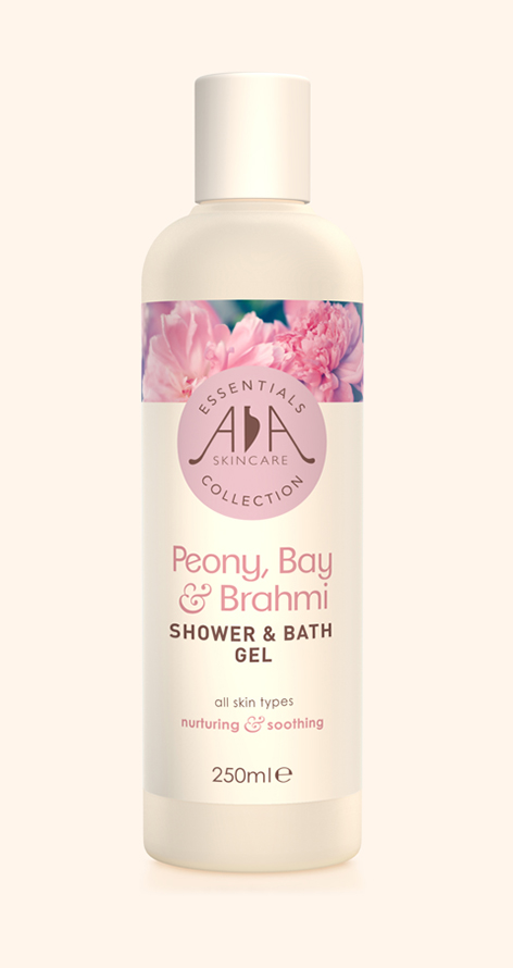 Peony, Bay & Brahmi Liquid Shower & Bath Gel 250ml AA Skincare