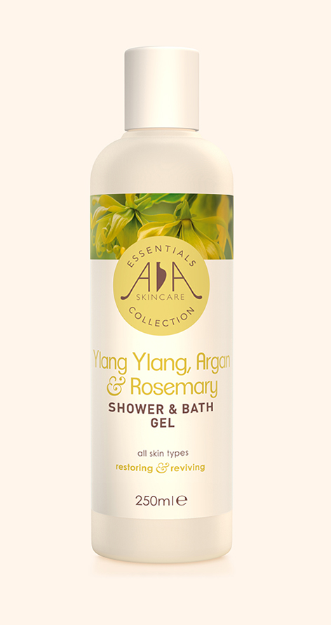 Ylang Ylang, Argan & Rosemary Shower & bath Gel 250ml AA Skincare
