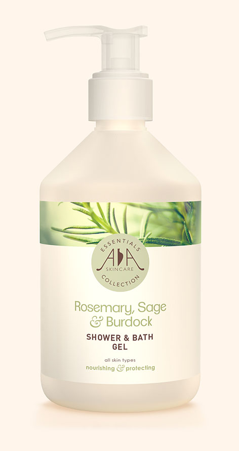 Rosemary, Sage & Burdock Shower & Bath Gel AA Skincare - Salon Size 500ml