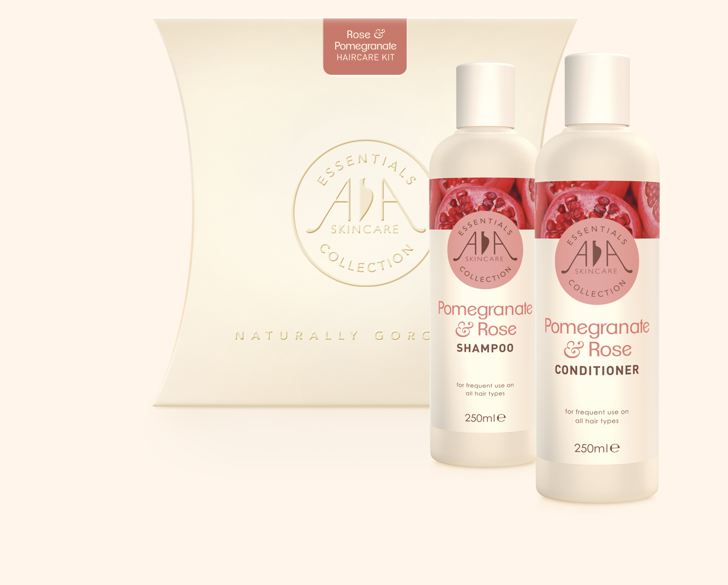 Rose & Pomegranate Hair Care Kit